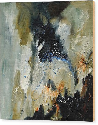 Abstract 070808 Wood Print by Pol Ledent