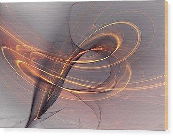 Abstract 090411 Wood Print by David Lane