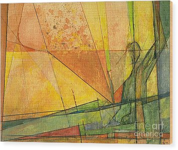 Wood Print featuring the painting Abstract #11 by Robert Anderson