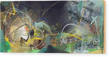Wood Print featuring the painting Abstract 11715 by Robert Anderson