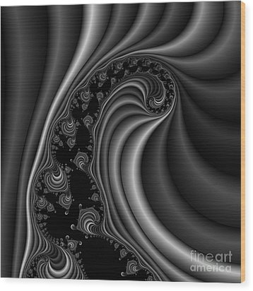 Abstract 120 Bw Wood Print by Rolf Bertram