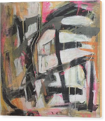 Abstract 1230-16 Wood Print by Shelley Graham Turner