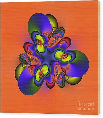 Abstract 127a Wood Print by Rolf Bertram