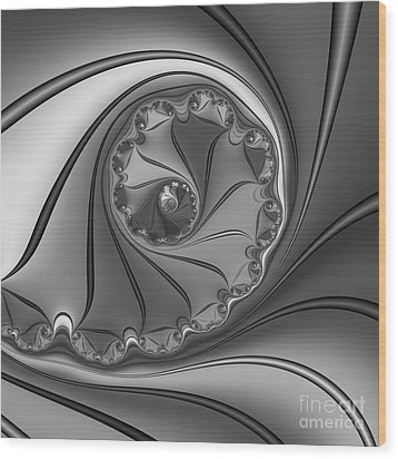 Abstract 156 Bw Wood Print by Rolf Bertram