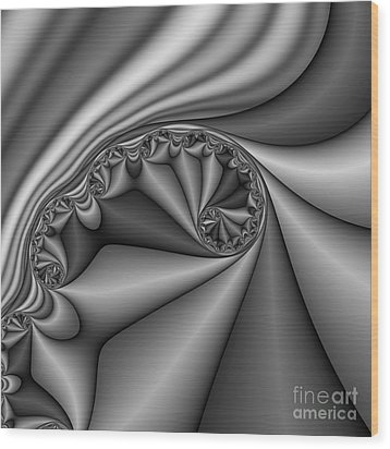 Abstract 168 Bw Wood Print by Rolf Bertram