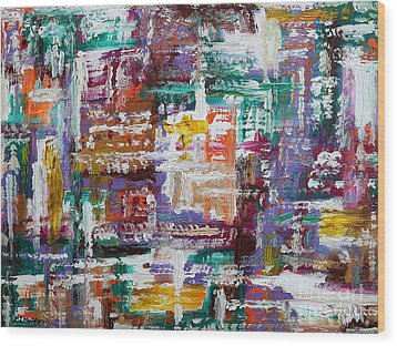 Abstract 193 Wood Print by Patrick J Murphy