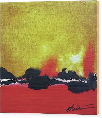 Abstract 201207 Wood Print