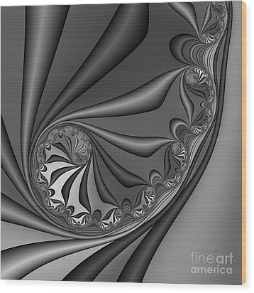 Abstract 209 Bw Wood Print by Rolf Bertram