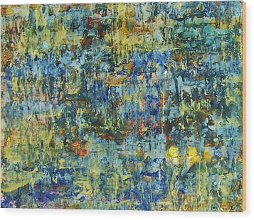 Wood Print featuring the painting Abstract #329 by Robert Anderson