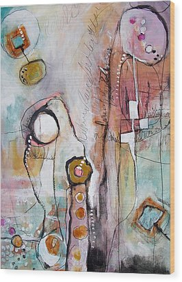 Abstract 39 Wood Print by Karin Husty