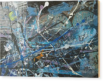 Wood Print featuring the painting Abstract #419 by Robert Anderson