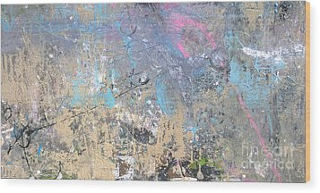 Wood Print featuring the painting Abstract #42115a by Robert Anderson