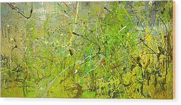 Wood Print featuring the painting Abstract #42515b Or Marsh Life by Robert Anderson