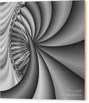 Abstract 531 Bw Wood Print by Rolf Bertram