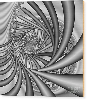 Abstract 532 Bw Wood Print by Rolf Bertram