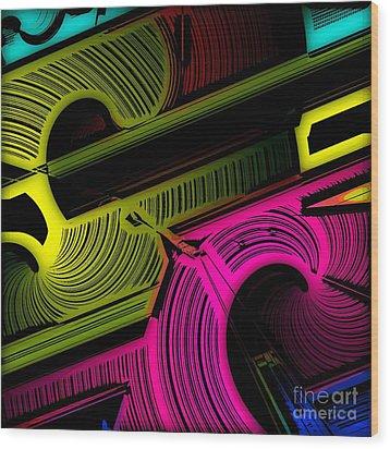 Abstract 6-21-09 Wood Print by David Lane