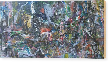 Wood Print featuring the painting Abstract #69 - Revised by Robert Anderson