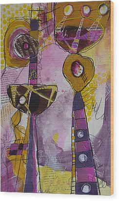 Abstract 86 Wood Print by Karin Husty