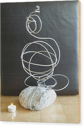 Abstract Aluminum Wood Print by Live Wire Spirit