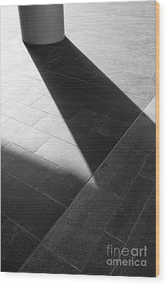 Abstract Architectural Shadows Wood Print by Emilio Lovisa