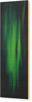 Abstract Art Colorful Original Painting Winter Passion - Green By Madart Wood Print by Megan Duncanson