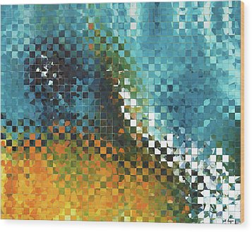 Abstract Art - Pieces 9 - Sharon Cummings Wood Print by Sharon Cummings