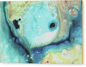 Abstract Art - Holding On - Sharon Cummings Wood Print by Sharon Cummings