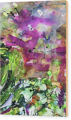 Abstract Arti 1 By Ginette Wood Print by Ginette Callaway