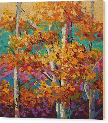 Abstract Autumn IIi Wood Print by Marion Rose