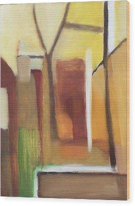 Abstract Backyard 2008 Wood Print