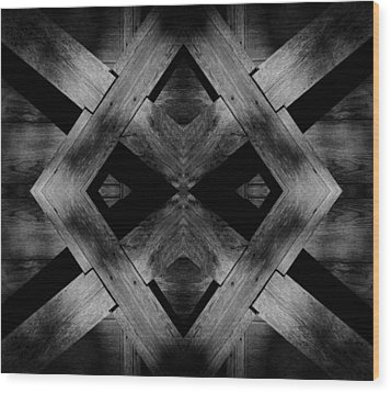 Wood Print featuring the photograph Abstract Barn Wood by Chris Berry