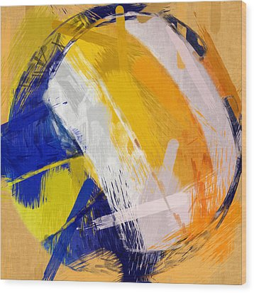 Abstract Beach Volleyball Wood Print by David G Paul