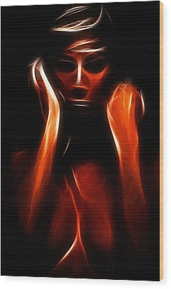 Abstract Beauty Painting Wood Print by Steve K