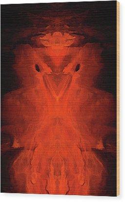 Abstract Bird 01 Wood Print by Scott McAllister