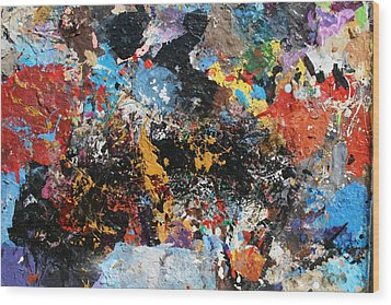 Wood Print featuring the painting Abstract Blast by Melinda Saminski