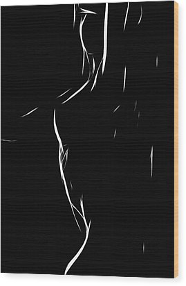 Abstract Bodyscape Wood Print by Steve K