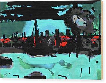 Abstract Bridge Of Lions Wood Print