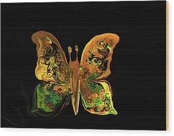 Abstract Butterfly Wood Print