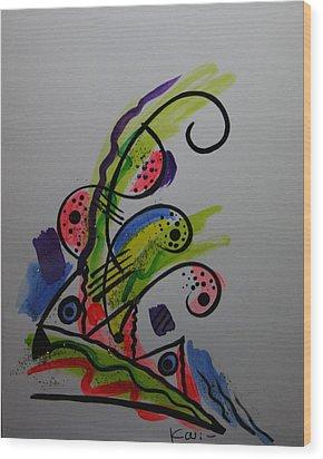 Abstract Card 1 Wood Print