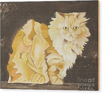 Abstract Cat Wood Print by Joseph Palotas