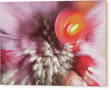 Wood Print featuring the photograph Abstract Christmas 4 by Rebecca Cozart