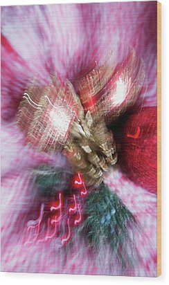Wood Print featuring the photograph Abstract Christmas 5 by Rebecca Cozart