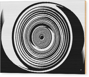 Abstract Clock Spring Wood Print by Will Borden