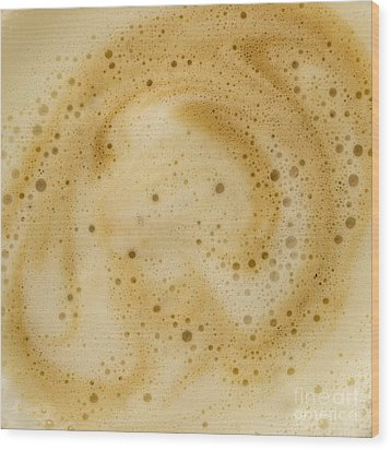 Wood Print featuring the photograph Abstract Coffee by Brian Roscorla