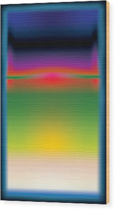 Abstract Color  Wood Print by Gary Grayson