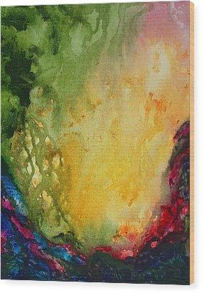 Abstract Color Splash Wood Print