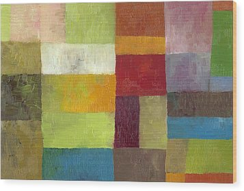 Abstract Color Study Lv Wood Print by Michelle Calkins