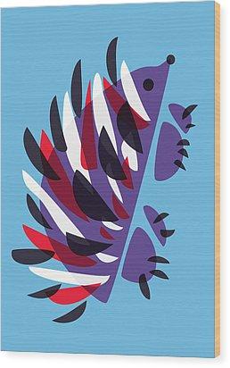 Abstract Colorful Hedgehog Wood Print