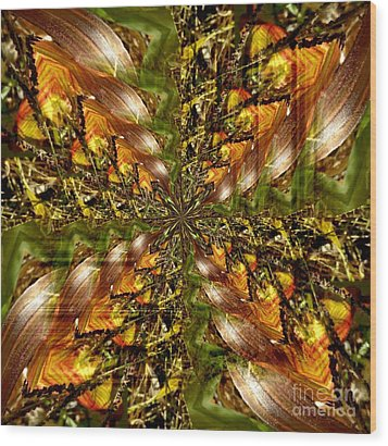 Abstract Cornfield 1 Wood Print