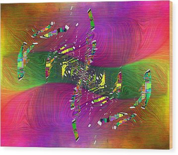 Wood Print featuring the digital art Abstract Cubed 357 by Tim Allen